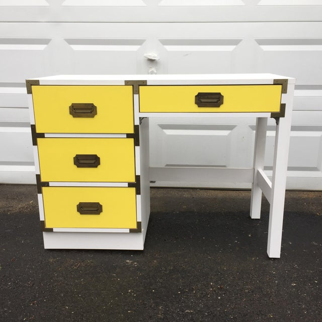 Mid-Century Modern Campaign Desk - Image 2 of 11