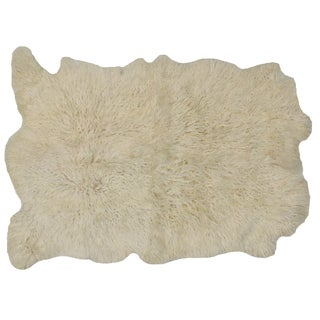 Turkish Plush Sheepskin Rug - 4′ × 5′5″