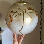 Image of Mid-Century Globe Swag Lamp