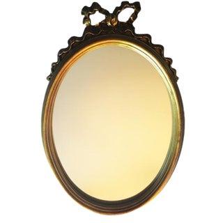Petite French Gold Ribbon Mirror