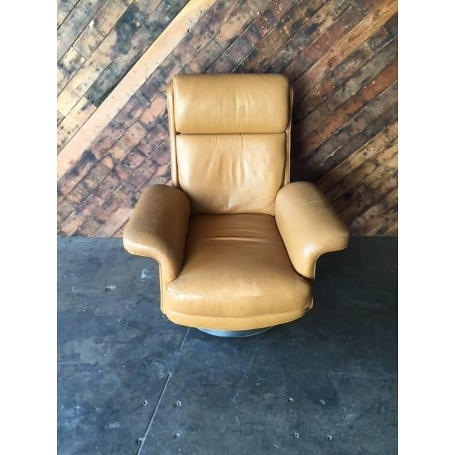 Vintage Milo Baughman Style Leather Chair - Image 3 of 6