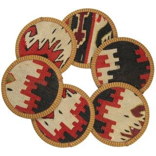 Zinnur Kilim Coasters - Set of 6