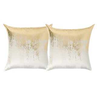 West Elm Faded Metallic Velvet Pillows - A Pair