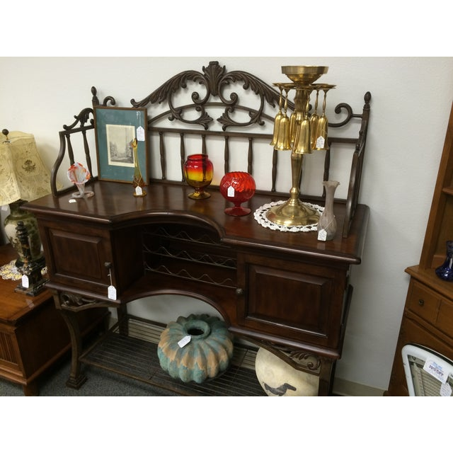 Beautiful Wrought Iron & Dark Wood Buffet - Image 8 of 10