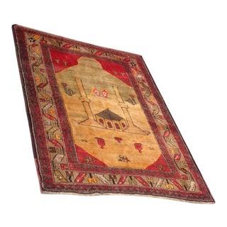 Turkish Anatolian Handmade Rug - 4′9″ × 6′2″