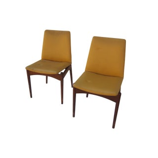 Vintage Yellow Space Age Dining Chairs - Set of 4