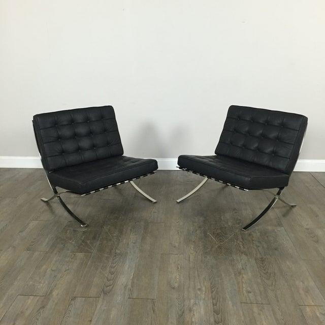 Barcelona Chairs & Ottoman - Set of 3 - Image 3 of 11