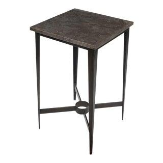 Sarreid Ltd. Metal & Stone Side Table