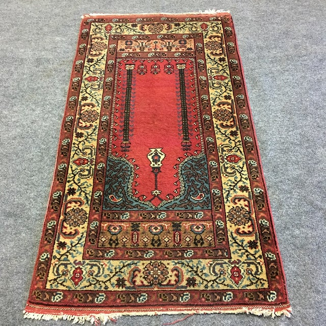 "Wool Pile Persian Prayer Rug - 2'6"" X 4'10"""