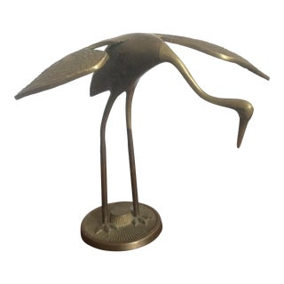 Heron Brass Sculpture