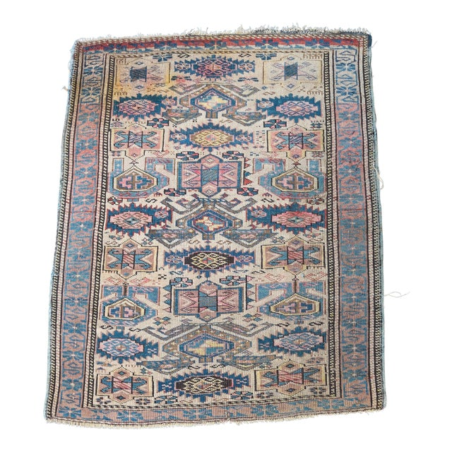 "Antique Caucasian Kuba Rug -- 2'11"" x 3'7"" - Image 1 of 7"