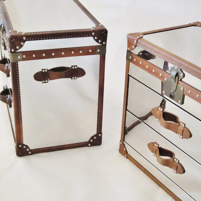 Restoration Hardware Trunk Chest Nightstands-Pair - Image 6 of 10