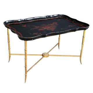 Elegant French 1940s Tray Table by Maison Baguès, Paris