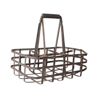Vintage Metal Bottle Carrier