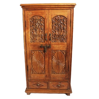 Antique Indian Colonial Armoire