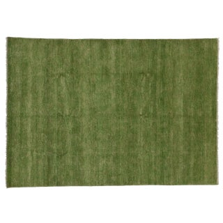 Transitional Green Area Rug - 6′ × 6′6″