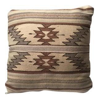 Tan Southwestern Rug Pillow