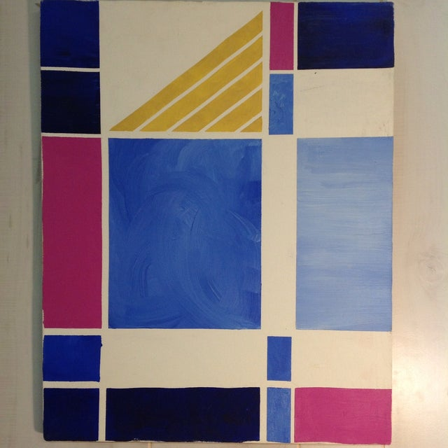 Image of Multicolored Geometric Abstract Painting