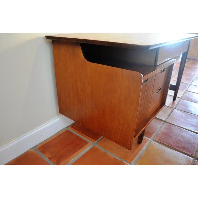 Hooker Mid-Century Walnut Small Floating Desk - Image 5 of 8