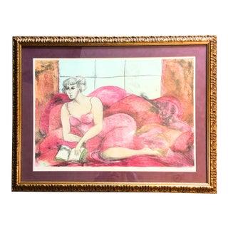Print of Posing Woman