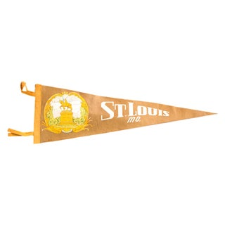 Vintage St. Louis Missouri Felt Flag