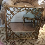 Image of Ornate Brass Overlay Mirror
