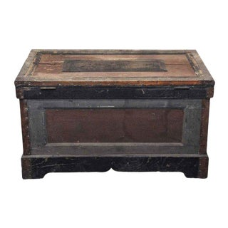 1800s Tool Trunk With Original Paint