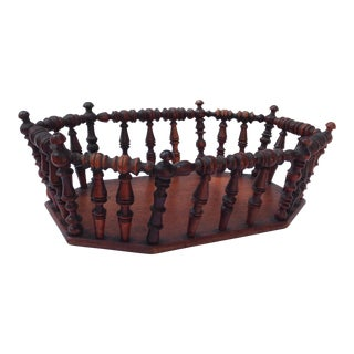Wood Spindle Basket