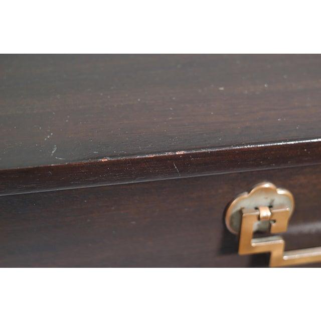 Image of Landstrom Furniture Ribbon-Mahogany & Brass 8-Drawer Dresser