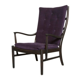 Parker Knoll Danish Style Lounge Chair in Purple