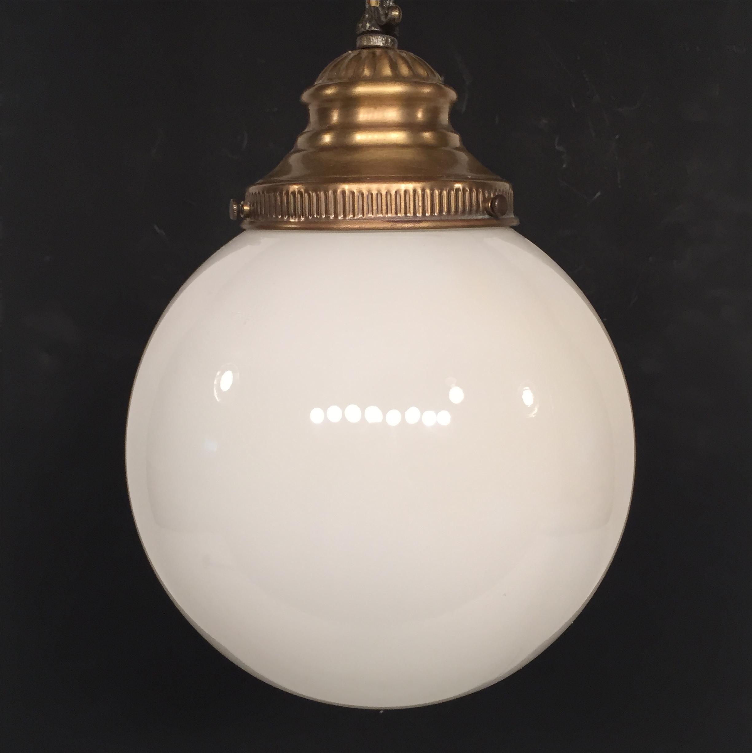 Brass Pendant Globe L& - Image 3 ... & Vintage Lavery u0026 Co. Brass Pendant Globe Lamp | Chairish azcodes.com