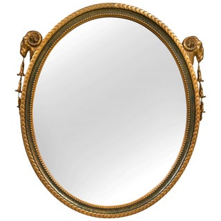 French Neoclassical Style Oval Mirror