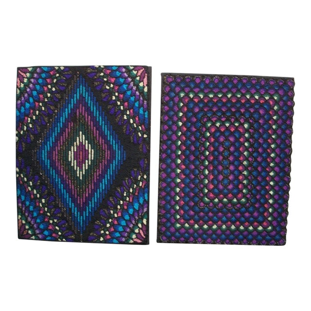 20th Century P.A. Mennonite Geometric Mounted Rug - Image 1 of 6