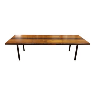 Mid Century Modern Baughman for Directional Walnut Rosewood Dining Table 1960s