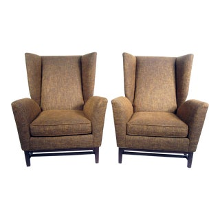 Thayer Coggin Wingback Chairs - A Pair