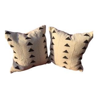 African White & Black Pillows - a Pair