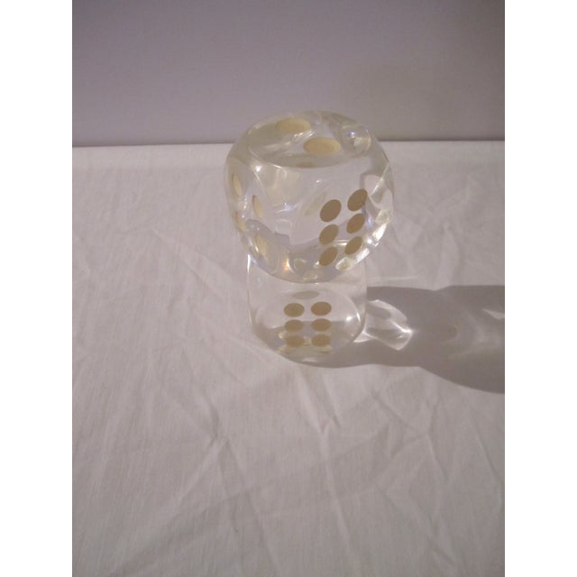 Vintage Lucite Dice - A Pair - Image 2 of 5