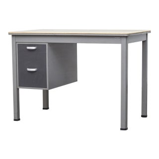 Gispen Grey Industrial Desk with Drawers