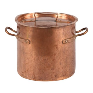 French Copper Cauldron, 19th Century