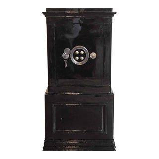 19th Century French Iron and Wood Safe Box & Keys