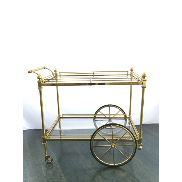 Vintage Hollywood Regency Bar Cart - Image 2 of 9