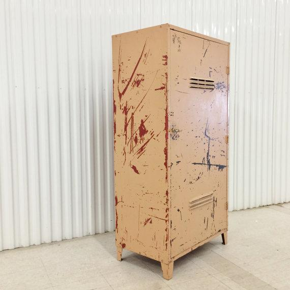 Vintage Industrial Steel Storage Cabinet - Image 3 of 6