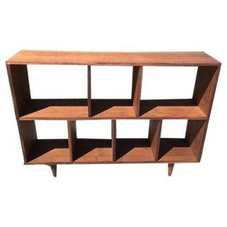 Mid-Century Syle Walnut Bookcase