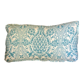 Quadrille Linen Kidney Pillow