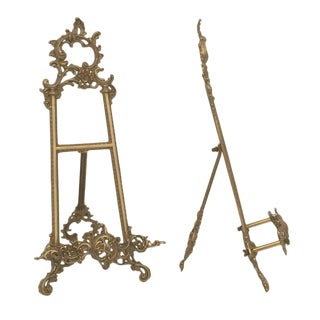 Pair of Small Brass Photo Easels