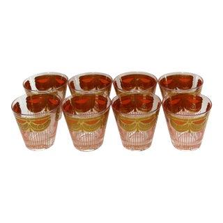 Vintage Georges Briard Gold Glasses - Set of 8