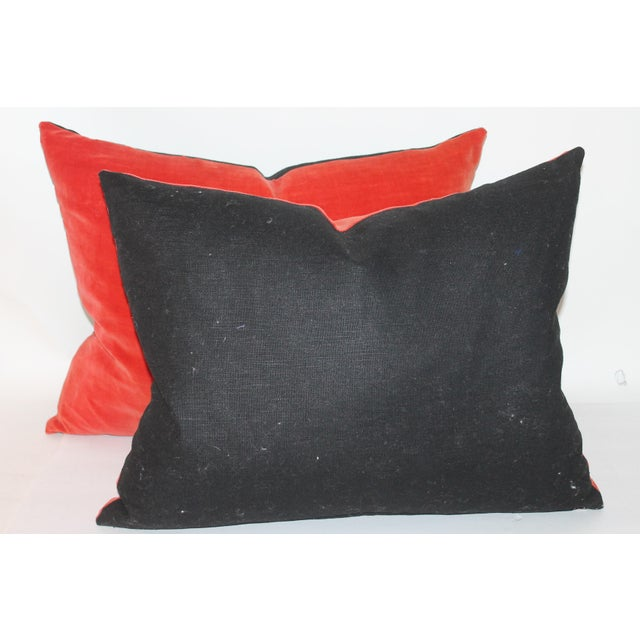 Orange Velvet Pillows- A Pair Chairish