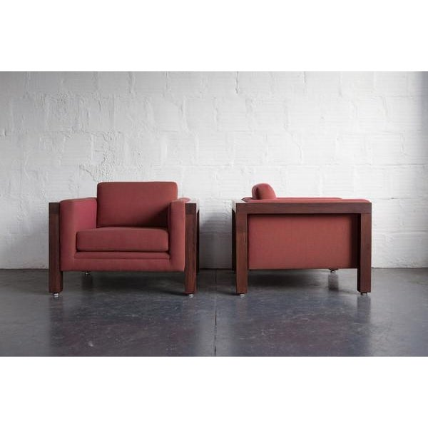 Milo Baughman Thayer Coggin Club Chairs - Pair - Image 3 of 5