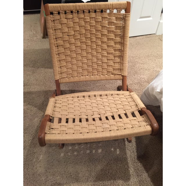 Wegner Style Folding Woven Chairs - A Pair - Image 2 of 6