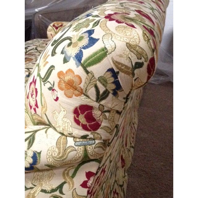Portuguese Tapestry Uphulsyered Willis Sofa - Image 4 of 6